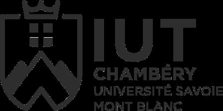 Logo IUT Chambéry noir